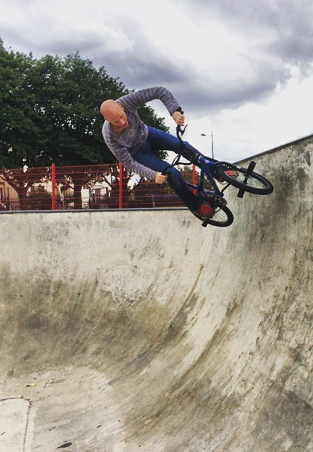 A recent photo of me riding my BMX